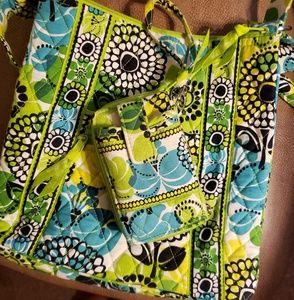 Vera Bradley NWOT Limes-Up Purse and Wallet Set